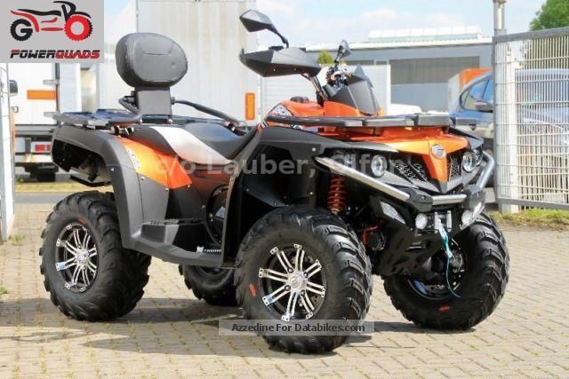 2012 CFMOTO  CForce 550 DLX 4x4 LOF orange, Motorcycle Quad photo